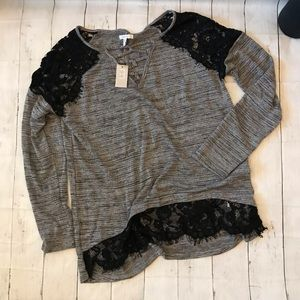 Cute Maurices NWT black lace top size Large